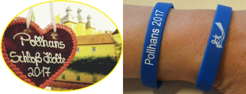 Polle-Pin (Foto: U. Knoke) und Polle-Armband